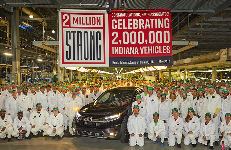 Honda Reaches 2 Million Production Milestone in Indiana